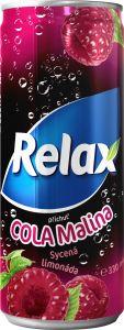 Relax limo cola malina 0,33l plech
