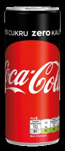 Coca Cola 0,25l plech zero