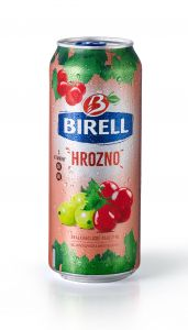 Birell 0,5l hrozno plech