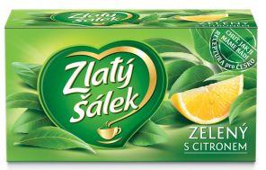 Čaj Zlatý šálek zelený s citronem 30g